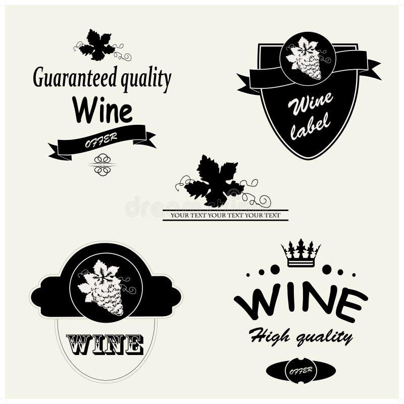 Étiquettes de vin illustration libre de droits