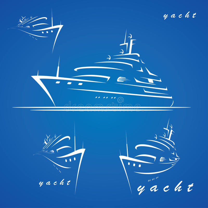 Étiquettes de yacht illustration stock