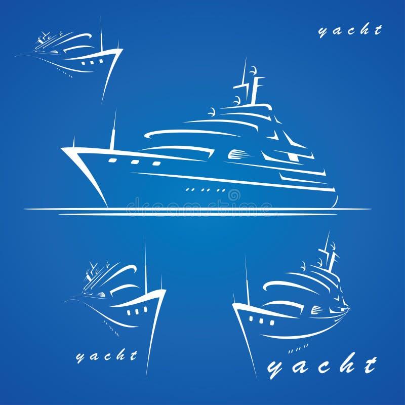 Étiquettes de yacht illustration stock