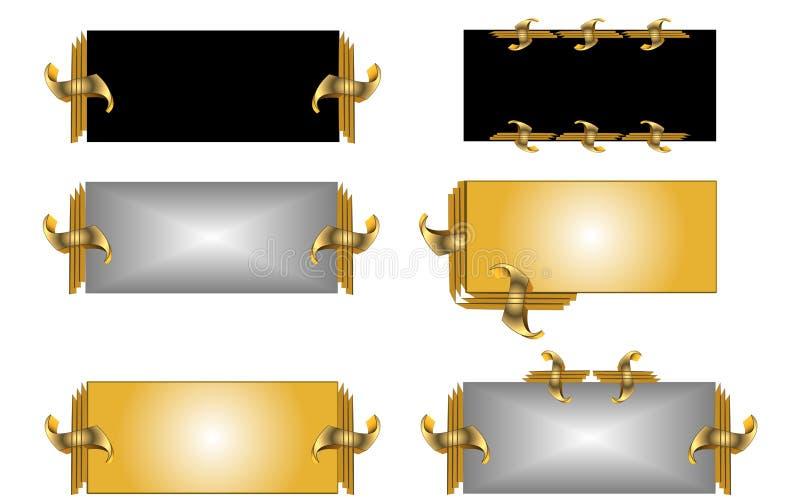 Étiquettes en métal illustration stock