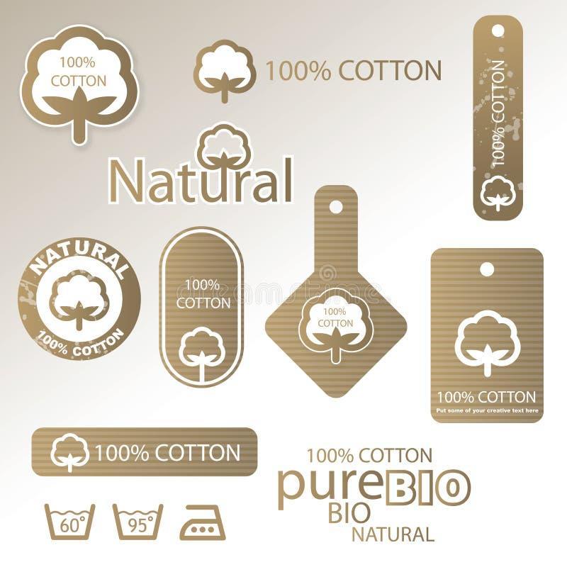 Étiquettes et étiquettes de coton illustration libre de droits