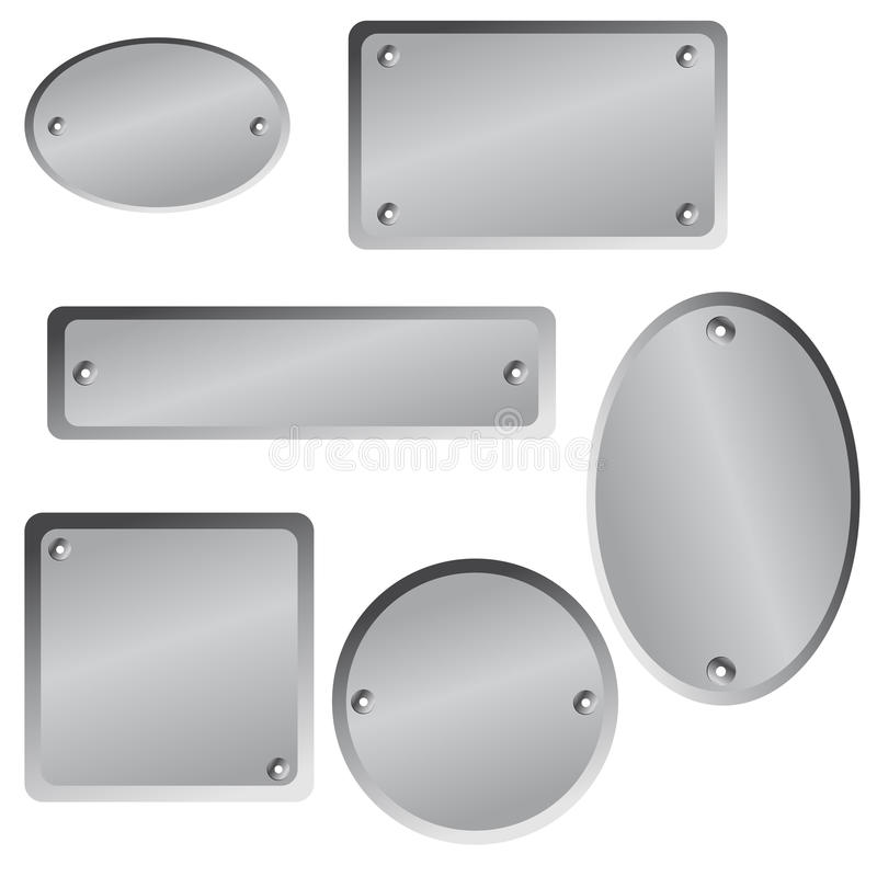 Étiquettes métalliques illustration libre de droits