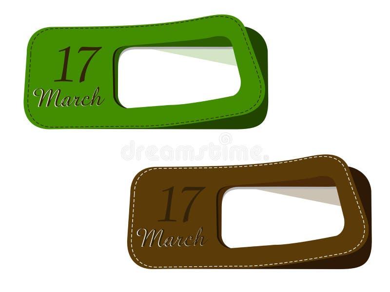 Étiquettes neuves pour le jour de St.Patrick. illustration libre de droits