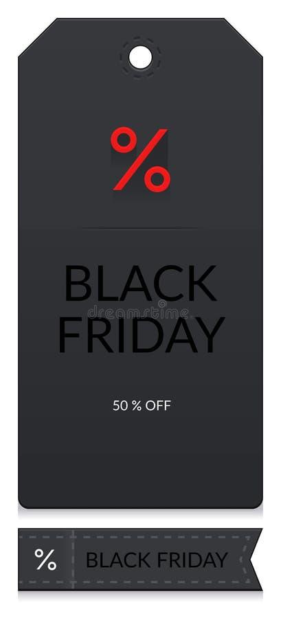 Étiquettes noires de vendredi photos libres de droits