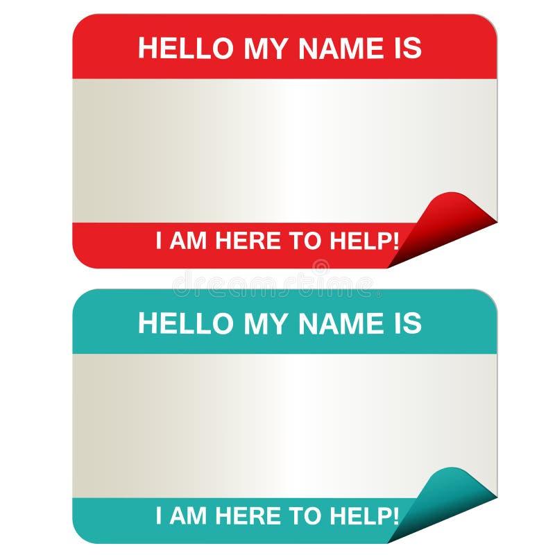 Étiquettes nommées illustration de vecteur