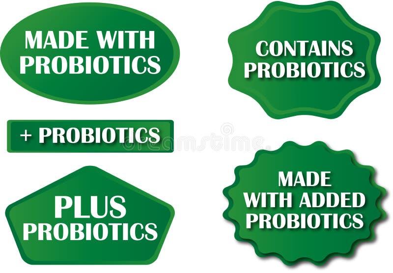 Étiquettes Probiotic illustration libre de droits
