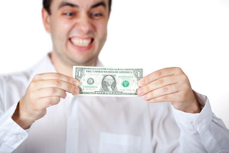 étirage de fixation du dollar photos libres de droits