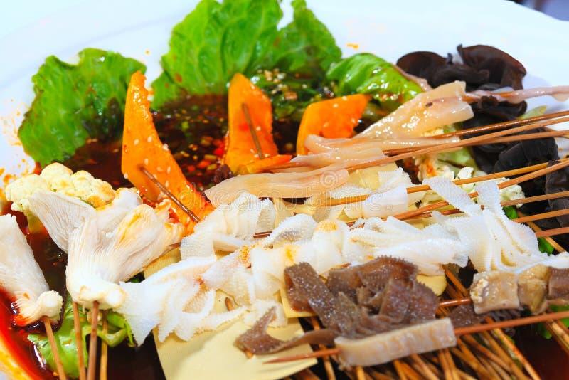 Étoffez le fungu comestible d'arbre de champignon d'enoki de ficelle de melon d'hiver de ficelle images stock
