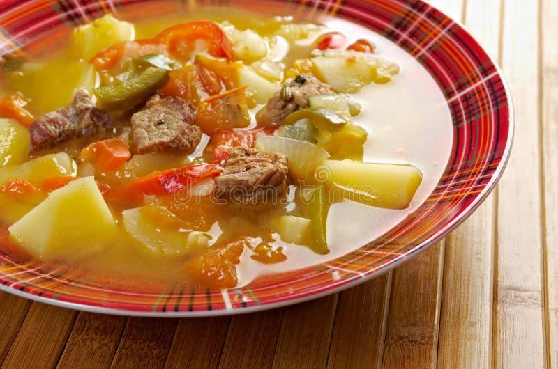 Soupe Lecho à boeuf images stock