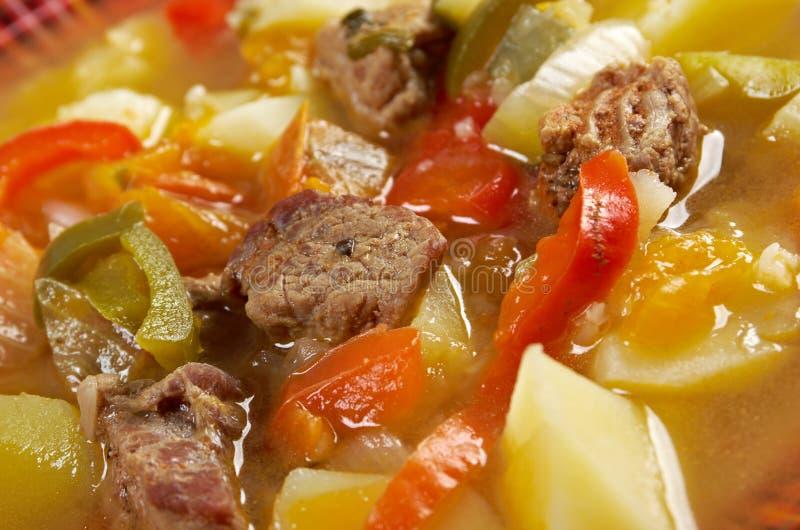 Soupe Lecho à boeuf photos stock
