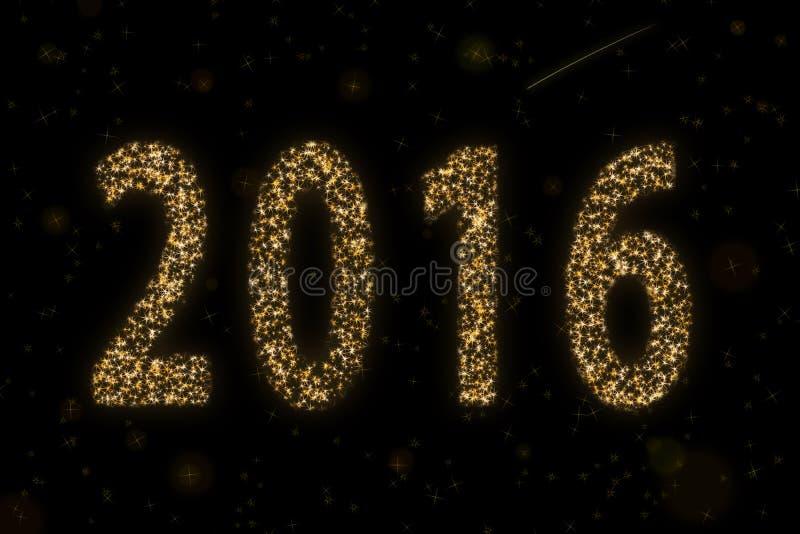 2016 étoilé image libre de droits