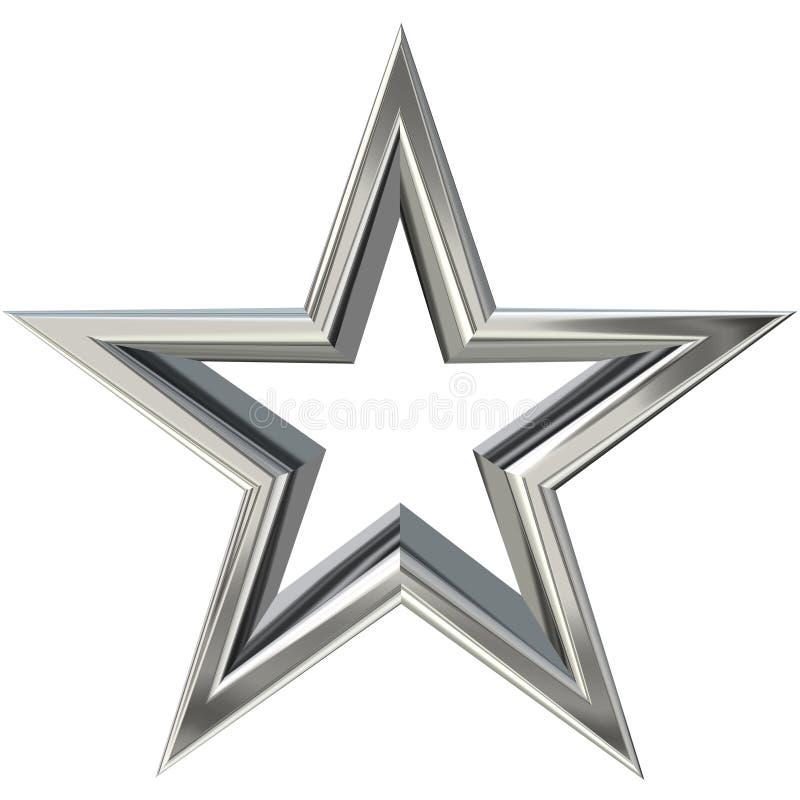 étoile 3D argentée illustration libre de droits