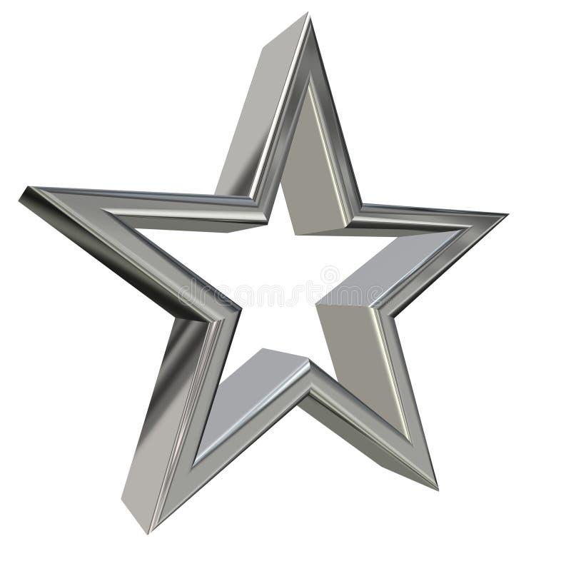 étoile 3d argentée illustration stock
