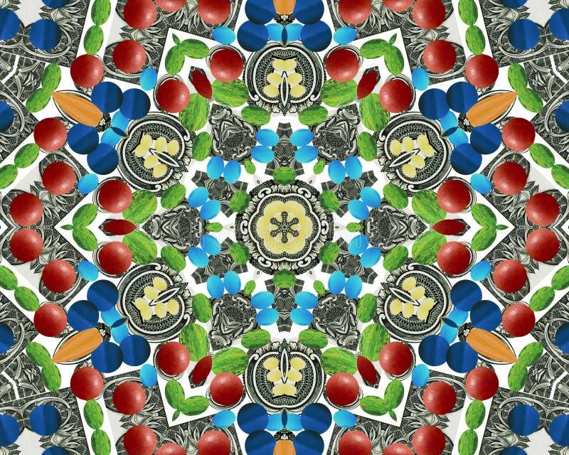 Étoile abstraite de multifinal avec des configurations. photos stock