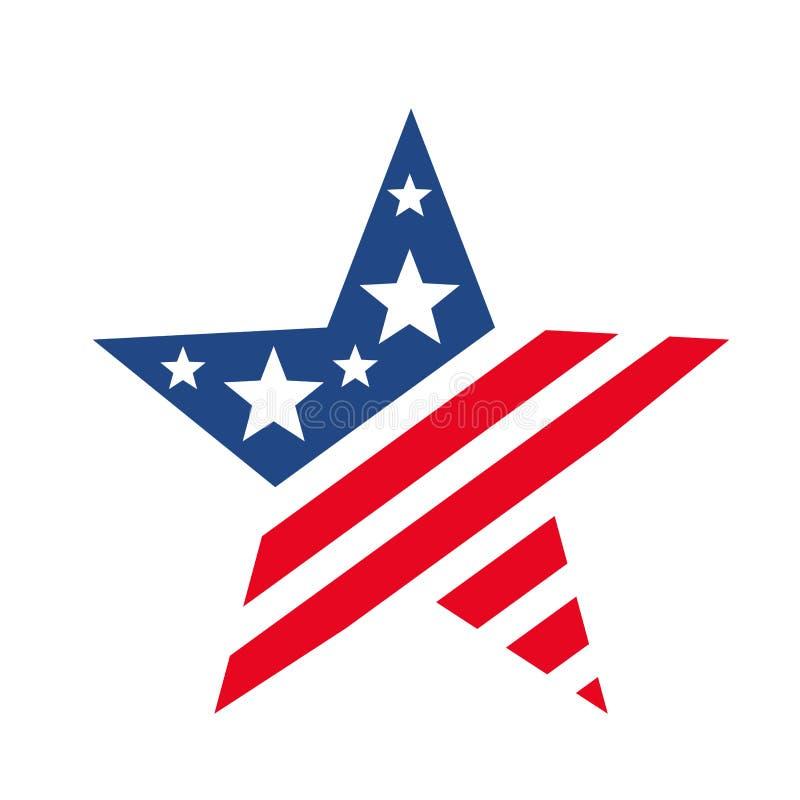 Étoile américaine comme le drapeau des Etats-Unis illustration stock