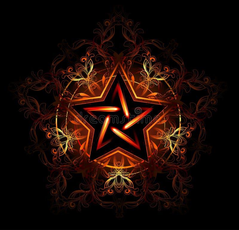 Étoile ardente mystique illustration libre de droits