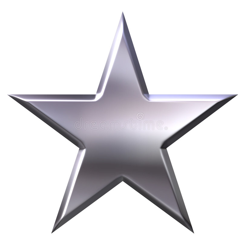 Étoile argentée illustration de vecteur