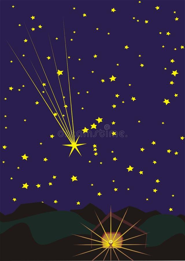 Étoile au-dessus de Bethlehem illustration de vecteur