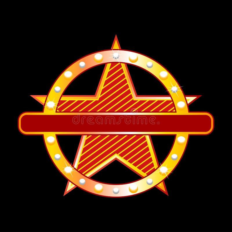 Étoile au néon illustration stock