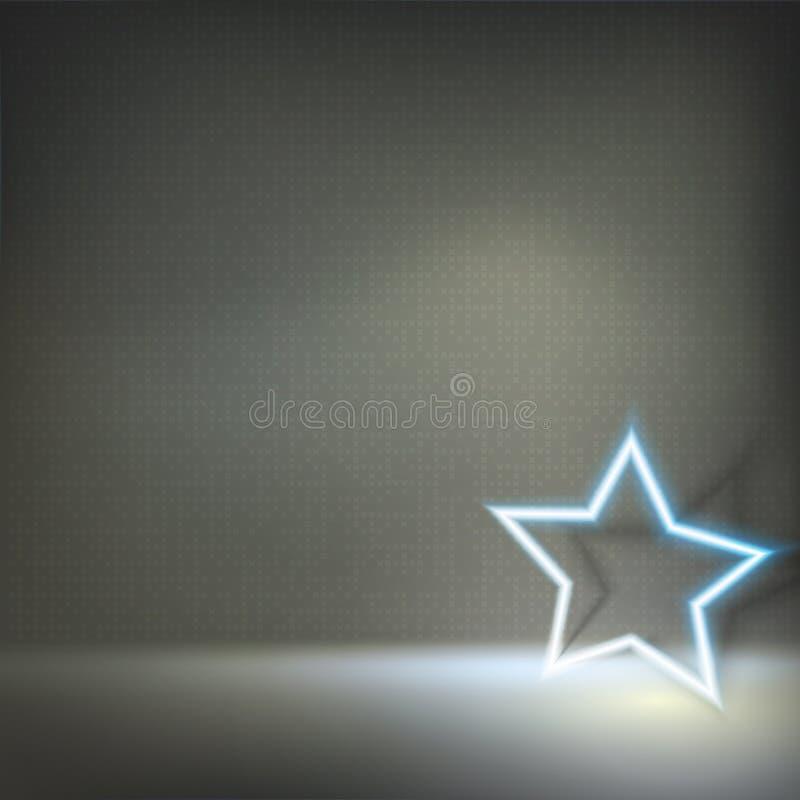 Étoile au néon rougeoyante images libres de droits
