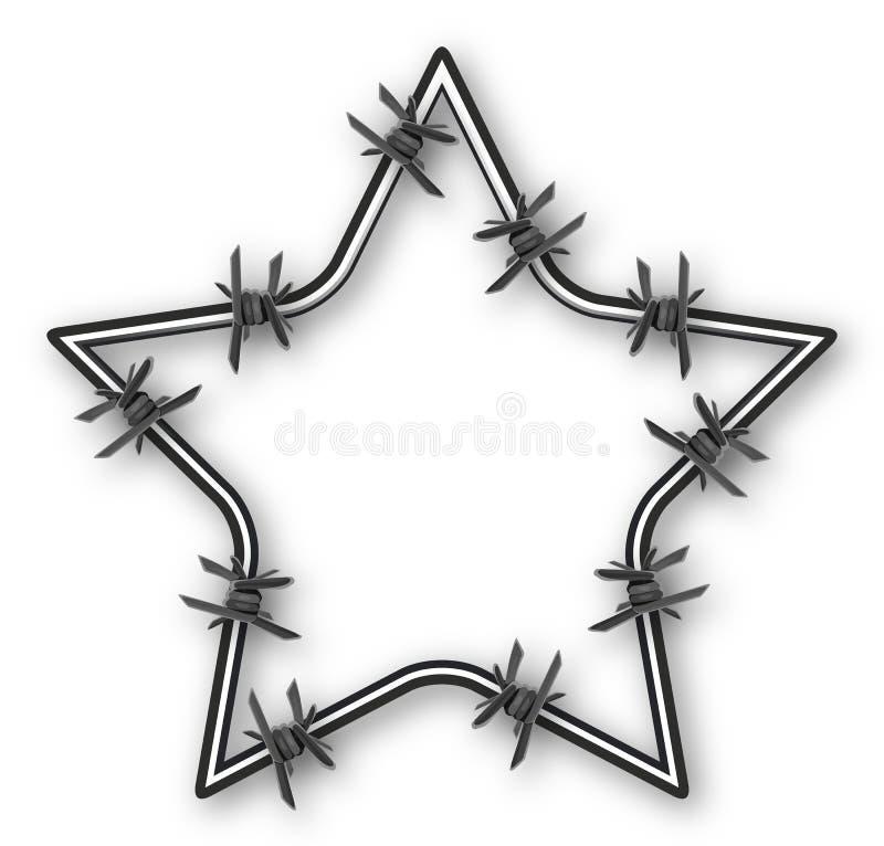 Étoile avec le barbelé illustration stock