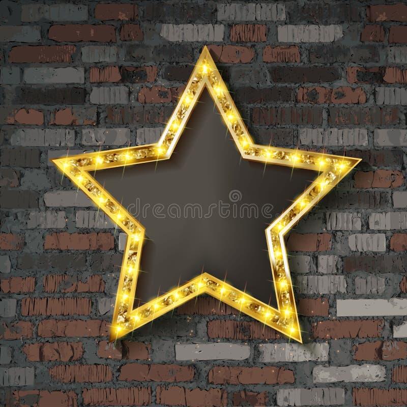 Étoile avec les ampoules illustration stock