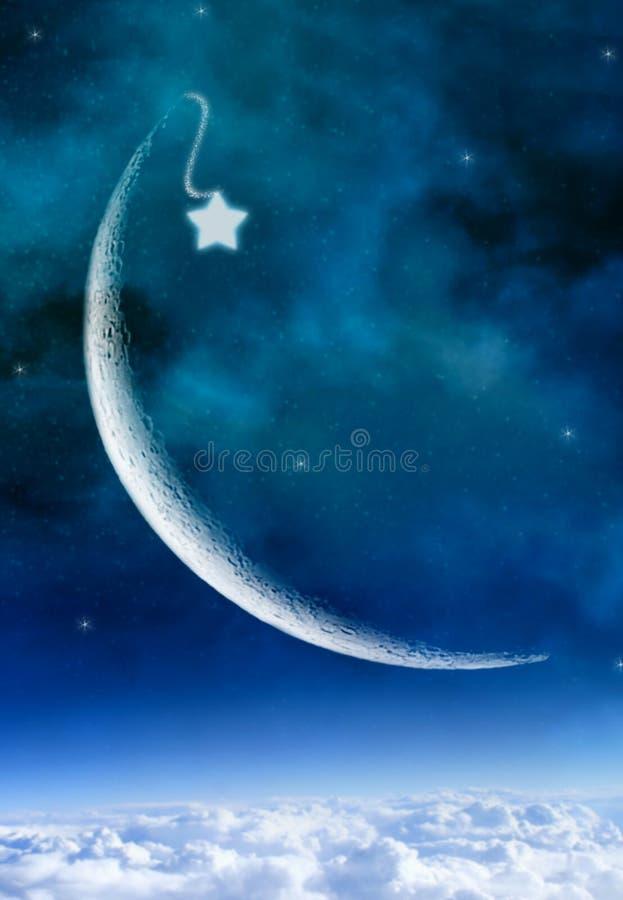 Étoile Cresent illustration libre de droits
