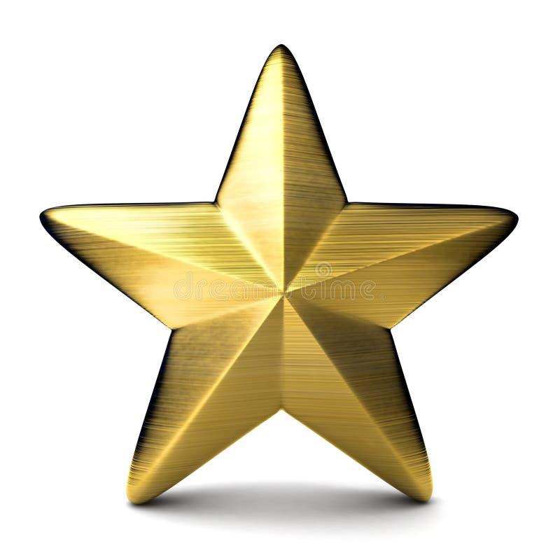 Étoile d'or illustration de vecteur