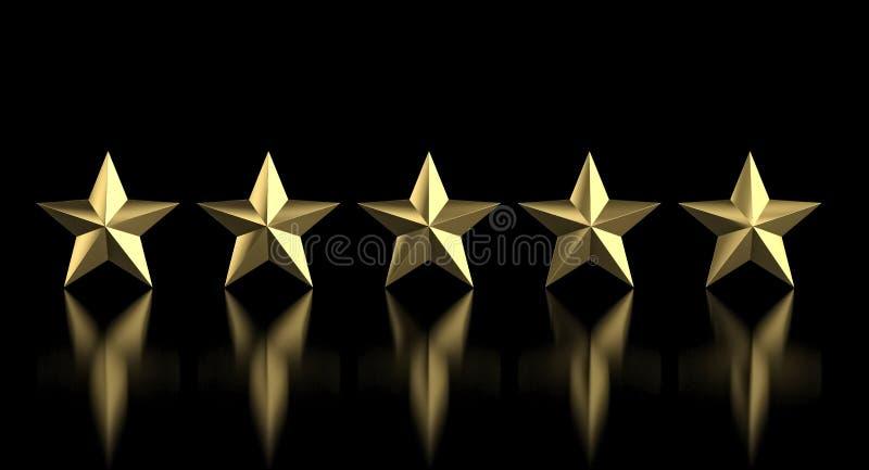 étoile 5 d'or photographie stock libre de droits