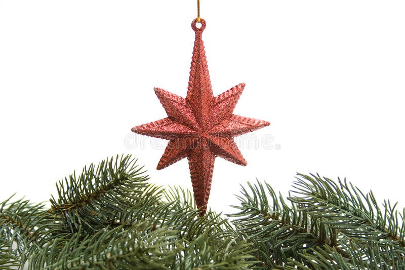 Étoile d'arbre de Noël image stock