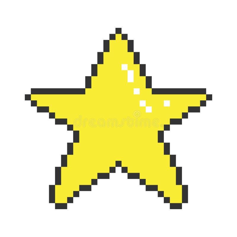 Étoile d'art de pixel de vecteur illustration de vecteur