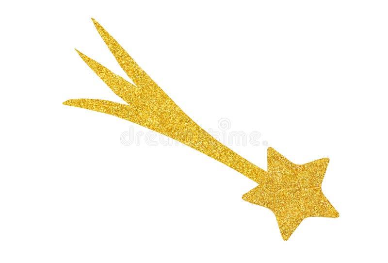 Étoile d'or, décoration de Christmad images stock