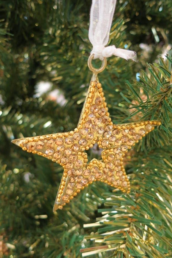 Étoile d'or de décoration images stock