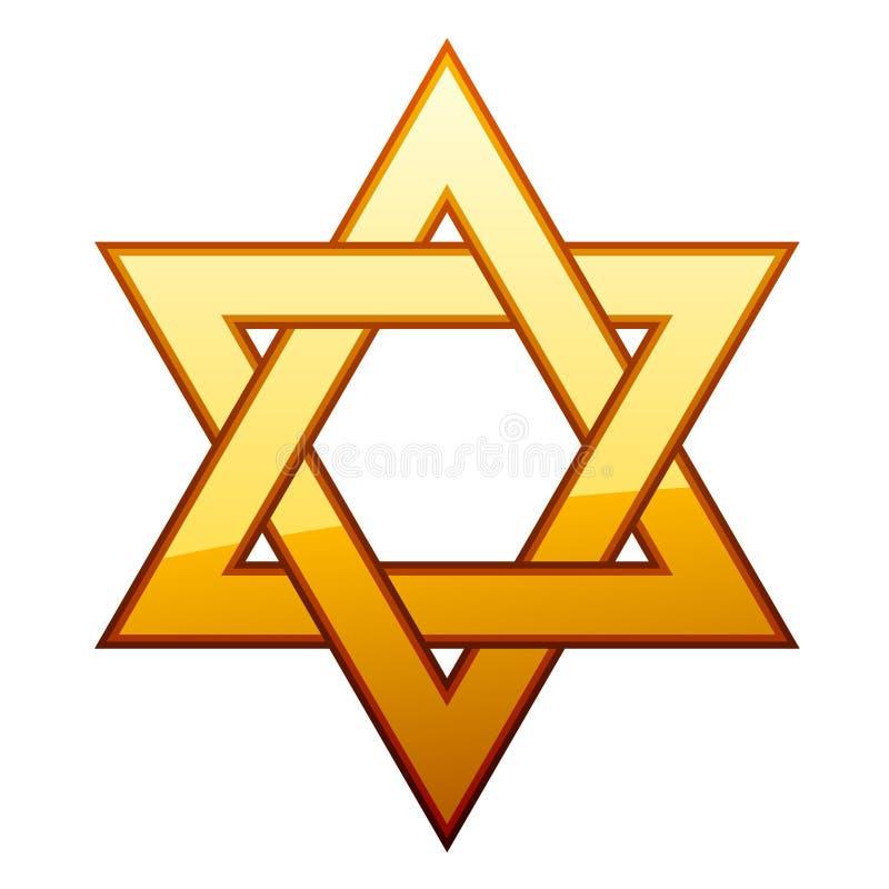Étoile d'or de David illustration libre de droits