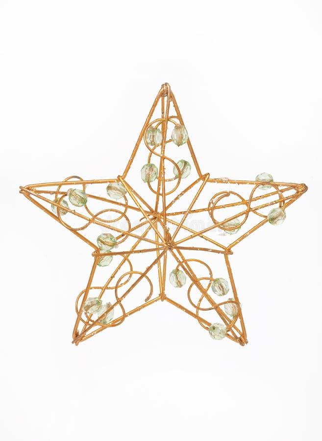 Étoile d'or de Noël photographie stock libre de droits