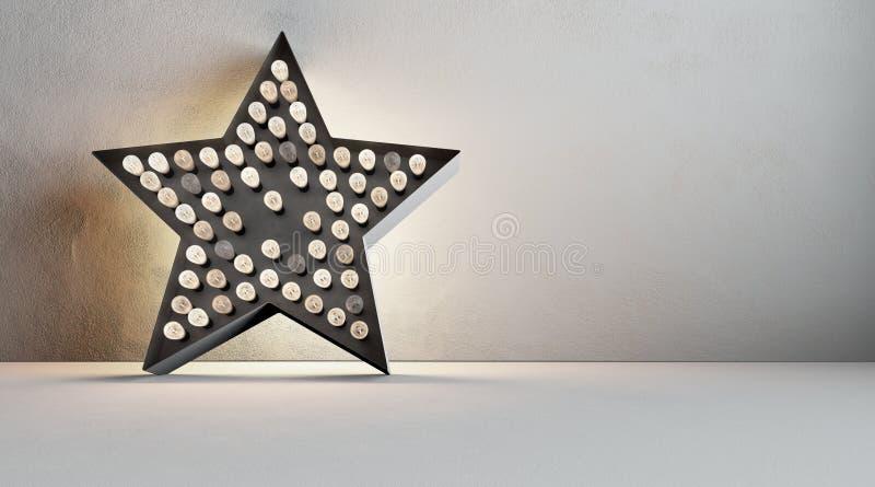 Étoile d'Edison illustration de vecteur