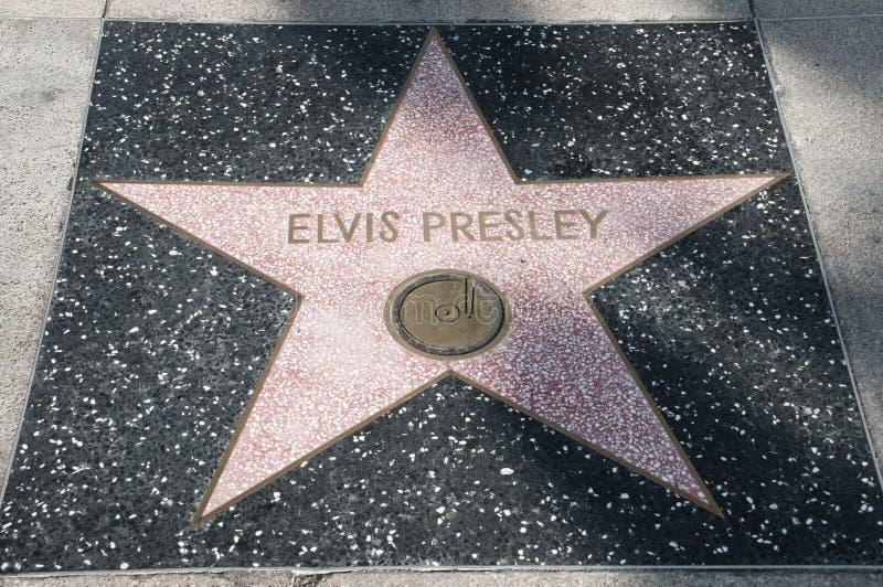 Étoile d'Elvis Presley image libre de droits