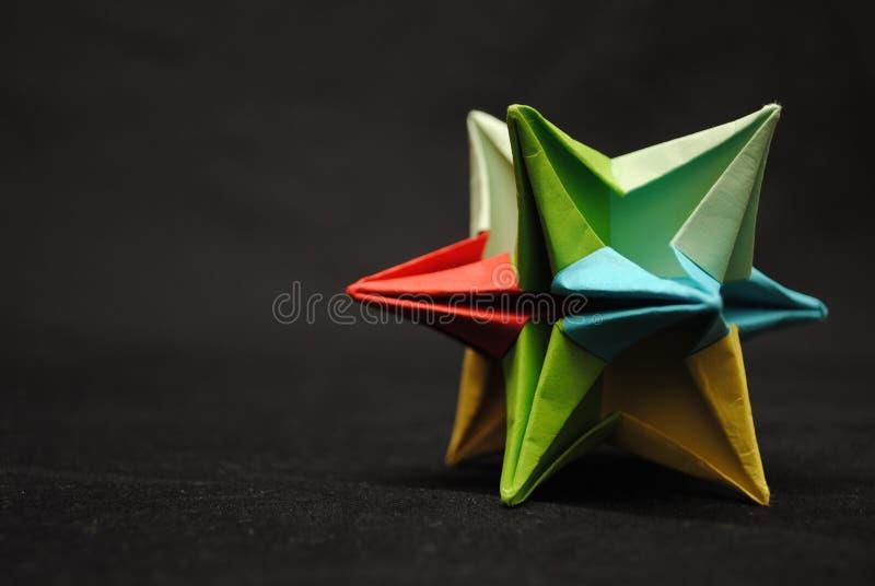 Étoile d'Origami image libre de droits