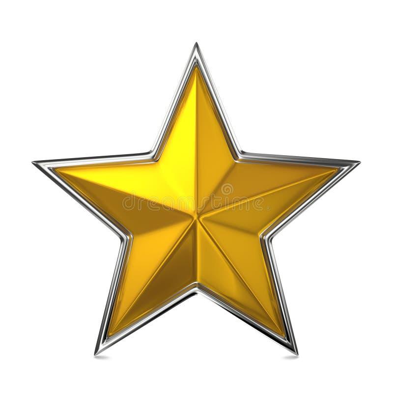 Étoile d'or, récompense Cocept. illustration stock