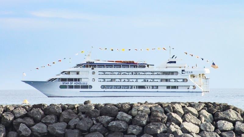 Étoile de bateau de croisière de Honolulu images libres de droits