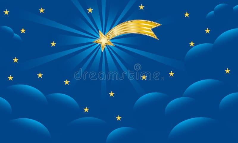 Étoile de Bethlehem - fond de Noël illustration libre de droits