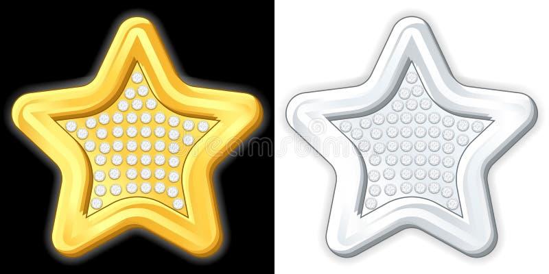 Étoile de bijou illustration libre de droits