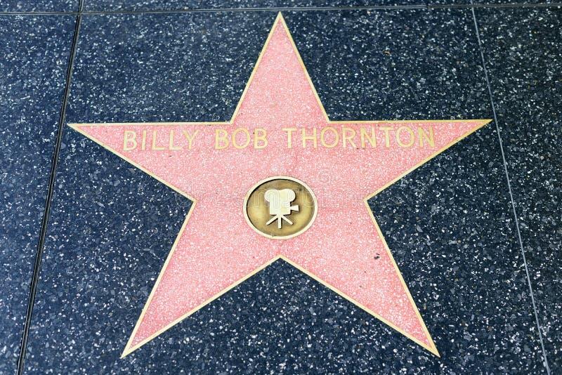 Étoile de Billy Bob Thornton sur la promenade de Hollywood de la renommée photographie stock