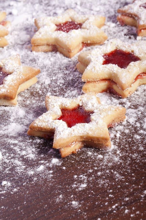 Étoile de biscuits de gelée photo libre de droits