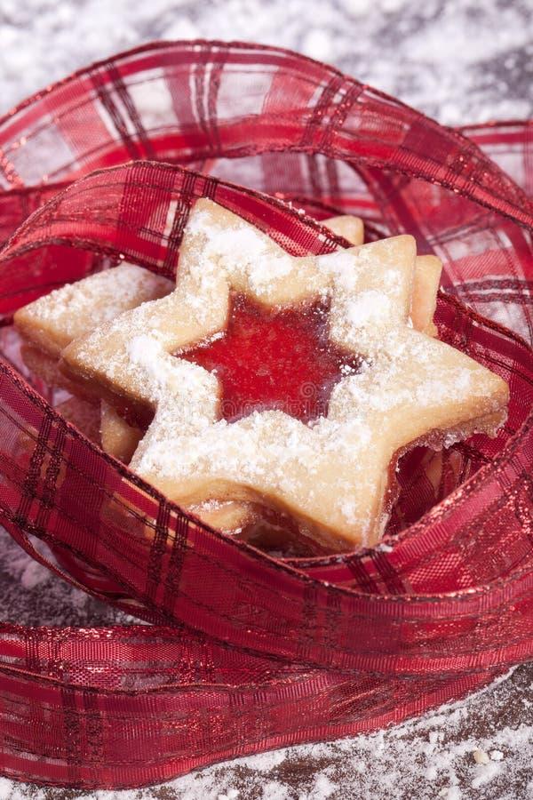 Étoile de biscuits de gelée image libre de droits