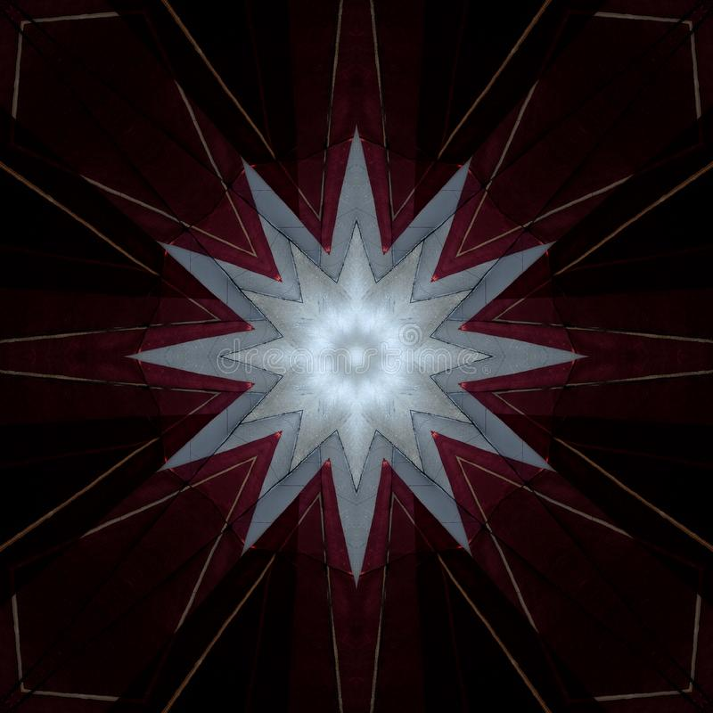 Étoile de conception d'art de Digital sur le rouge bourguignon illustration libre de droits