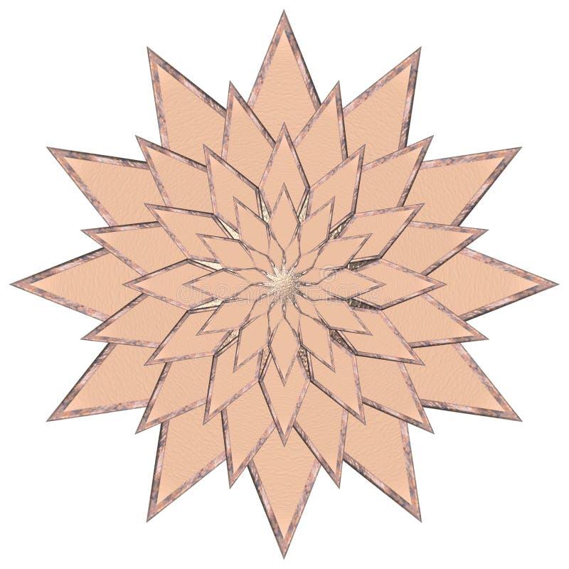 Étoile de cuivre illustration libre de droits