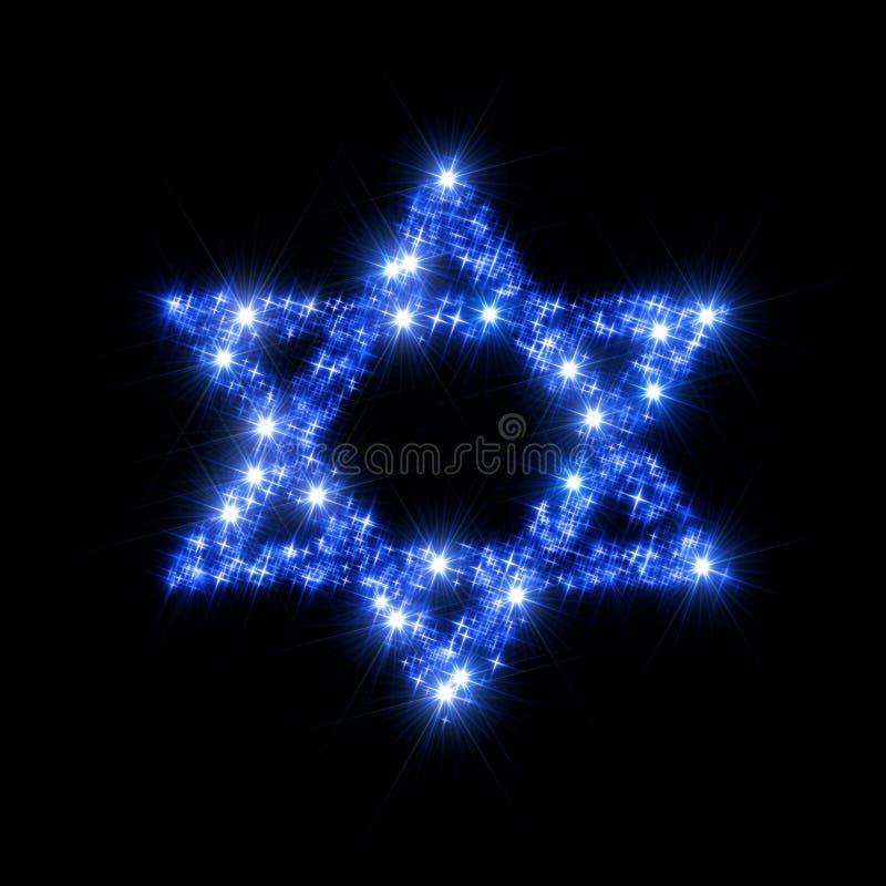 Étoile de David illustration stock