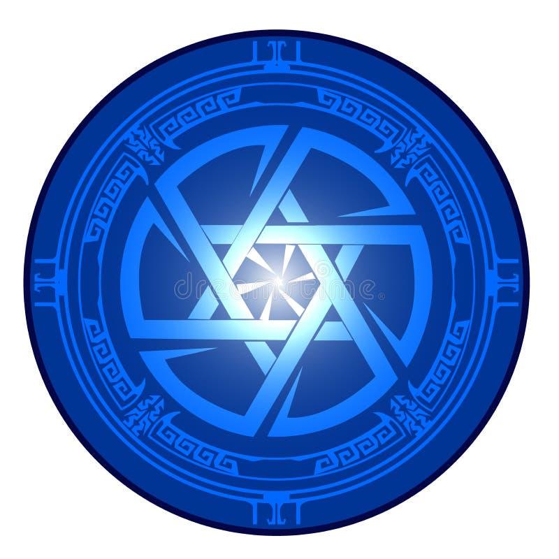Étoile de David, bouclier de David, Magen David, illustration, icône illustration libre de droits
