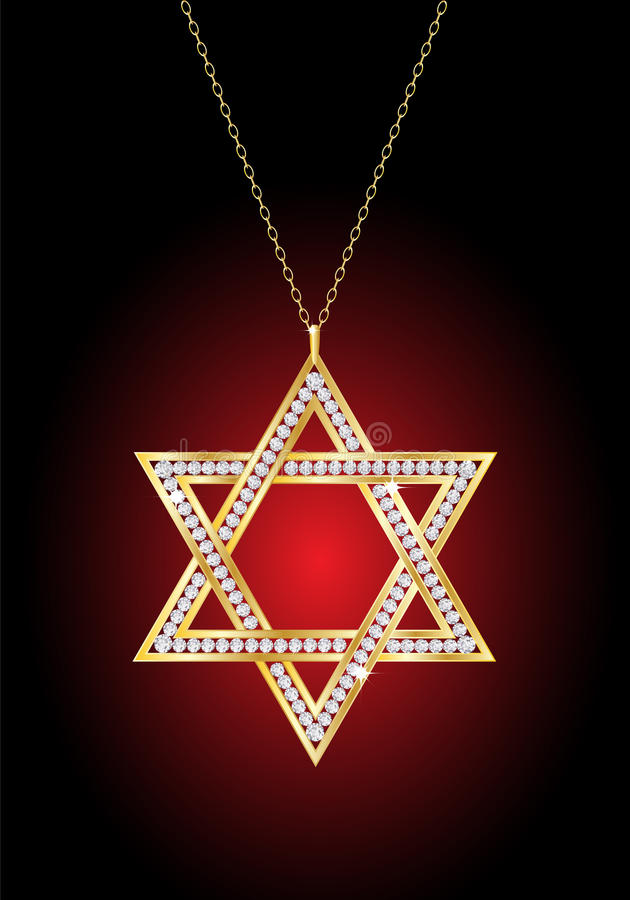Étoile de David d'or illustration stock
